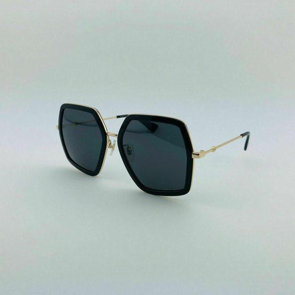 Buy ✅ Authentic Gucci Women's Sunglasses GG0106S 001 56mm Black-Gold / Grey Lens