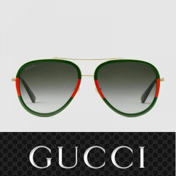 Buy ✅ Gucci Sunglasses GG0062S 003 Gold Red Green / Gray for Women