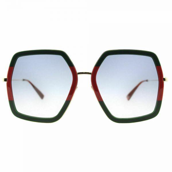 Buy ✅ Gucci Women Design Sunglasses GG0106S 007 Green Gold/Grey Gradient Lens 56mm