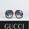 Buy ✅ Gucci Women Design Sunglasses GG0106S 007 Green Gold/Grey Gradient Lens 56mm