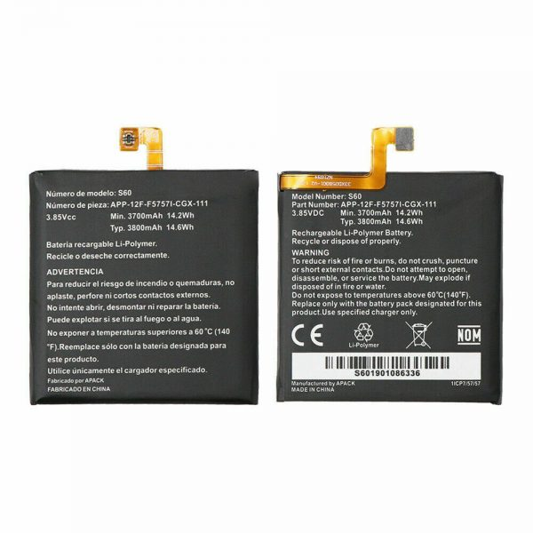 Buy 10 pcs S60 Rechargeable Original Battery Inbuilt Baterie Caterpillar CAT Phone