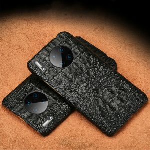 Buy 100% Real Alligator Genuine Leather Case 3D Crocodile Retro Vintage Hard Cover