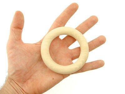 """Buy 100 pcs Medium size 80mm (3 1/7"""") Wooden Organic Teething Ring EN 71-3 certified"""