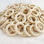 Buy 100 pcs. Wooden Organic Teething Rings (60 mm) EN 71-3 71-1 certified WHOLESALE