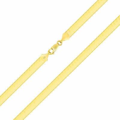 "Buy 10K Yellow Gold Solid 3mm-9mm High Polish Silk Herringbone Chain Necklace 16-30"""