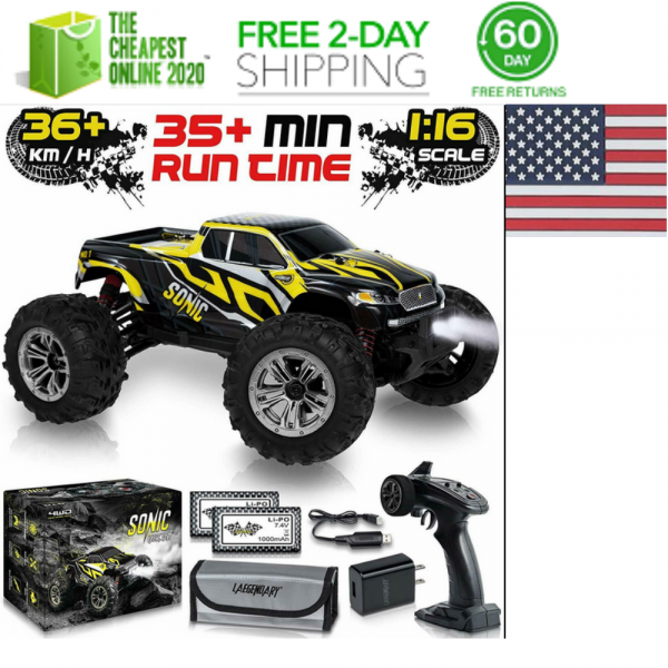 Buy 1:16 Scale Large RC Cars 36+ kmh Speed FOR Boys Remote Control Car 4x4 Off Road