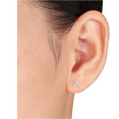 Buy 1/2Ct Round Genuine Diamond Studs Earrings in 14K White Or Yellow Gold