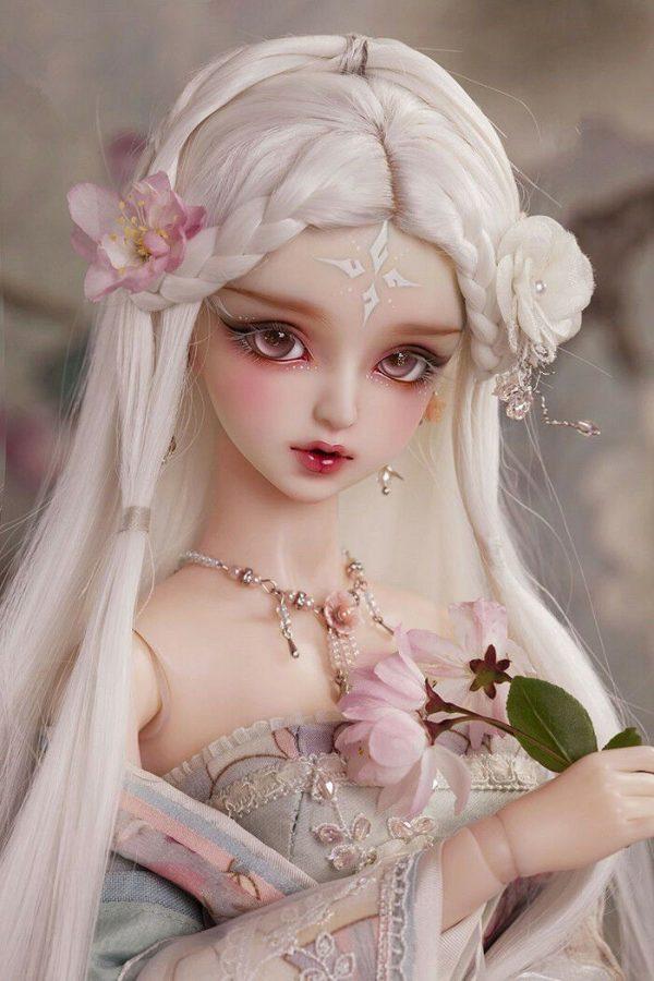 Buy 1/3 Beautiful girl HuaRong BJD resin action figures Free Eyes + FaceUp