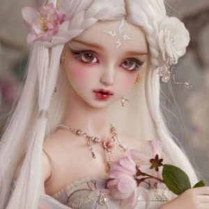 Buy 1/3 Beautiful girl HuaRong BJD resin action figures Free Eyes + FaceUp