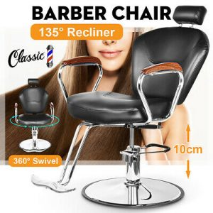 Buy 135° Reclining Barber Chair Heavy Duty Shave Salon Beauty Tattoo Equipment