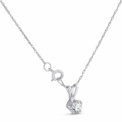 Buy 1/3ct Round Solitaire 14k White Gold Diamond Pendant