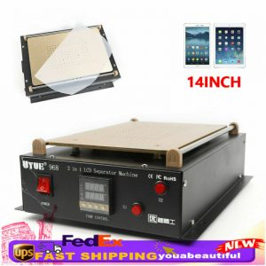 "Buy 14"" LCD Touch Screen Glass Separator Vacuum Machine Phone Hot Plate Repair Tool"