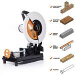 Buy 14 in. Multi-Purpose Chop Saw Steel Cold Cut Aluminum Wood Cutting Tool 15 Amp