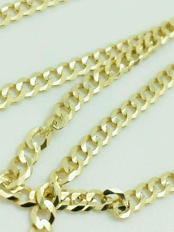 """Buy 14K Solid Yellow Gold Cuban Chain Necklace 2.4MM 16"""" 18"""" 20"""" 22"""" 24"""" 26"""" 28"""" 30"""""""