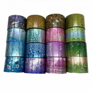 Buy 16 Rolls/Set Water Drop Starry Foils Nail Sicker Starry Glitter Rain Flowers Dew