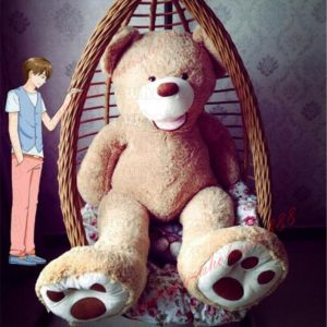 Buy 160cm Teddy Bear Plush Toys Super Huge Giant Life Size Stuffed Animals Doll Gift