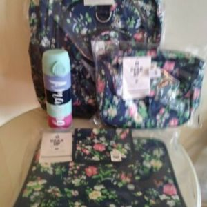 Buy $173 Pottery barn SET Floral Large BACKPACK+Water Bottle +Lunch bag + Organizer