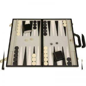 "Buy 18"" Deluxe Backgammon Set, Black"