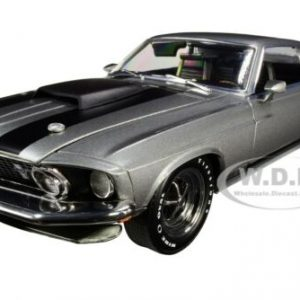 "Buy 1969 FORD MUSTANG BOSS 429 GRAY ""JOHN WICK"" 1/18 DIECAST CAR BY HIGHWAY 61 18016"
