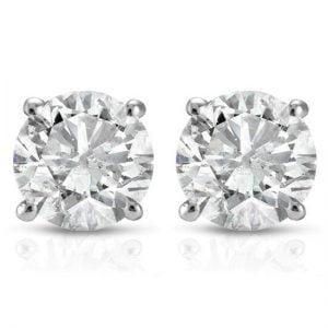 Buy 1ct Diamond Studs 14K White Gold