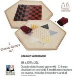 Buy 2 CLASSIC CHECKER GAMES Chinese Checkers & Traditional Wood Board w/ Marbles USA