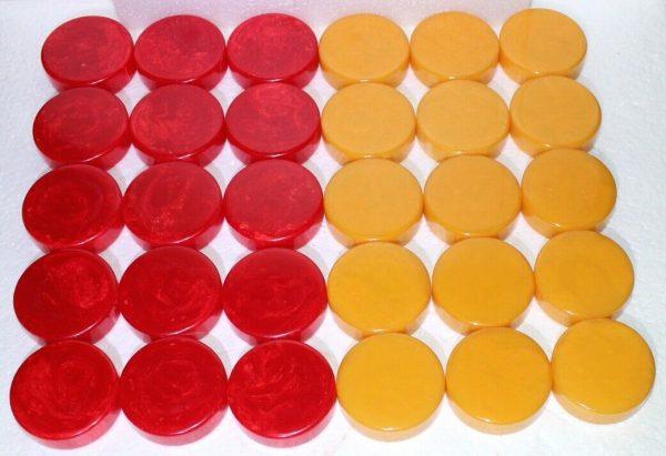 "Buy 2"" Crisloid Catalin Bakelite Red Butter Backgammon Checkers Jumbo Size BIG Board"