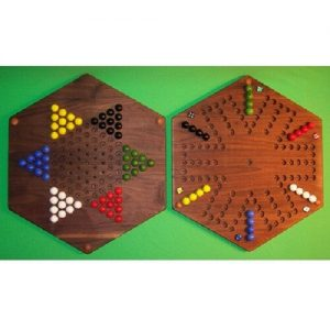 Buy 2 GAMES IN 1 - Aggravation - 6 Player - 6 Hole & Chinese Checkers, Black Walnut