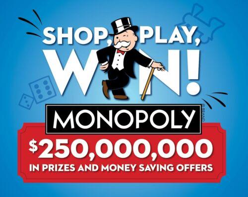 Buy (300) 2020 Albertson's Safeway Monopoly Tickets - Brand New Unopened! 300 pieces