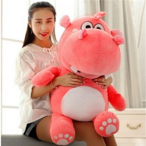 Buy 2019 Soft Animal Hippo Plush Toy Giant 120cm Stuffed Cartoon Hippopotamus Doll