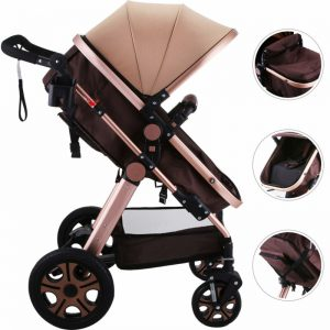 Buy 3 in 1 Luxury Foldable Baby Stroller High View Pram Pushchair Bassinet Car