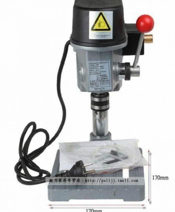 Buy 340W Mini Table Electric Drill Press 220V Drill Bits Power Tools 0.6mm-6.5mm  M