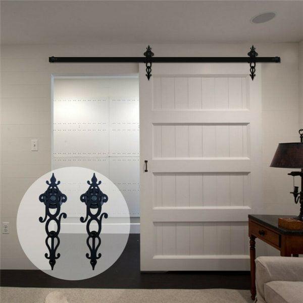 Buy 4-20FT Rustic Sliding Barn Door Hardware Closet Track Kit for Single/Double Door