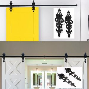 Buy 4-20FT Rustic Sliding Barn Door Hardware Closet Track Kit for Single/Double Door
