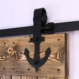 Buy 4-20FT Sliding Barn Door Hardware Closet Anchor Rail Kit for One/Two/Bypass Door