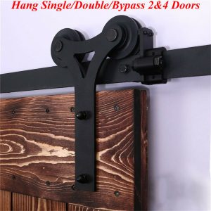 Buy 4-20FT Sliding Barn Door Hardware Closet Track Kit Single/Double/Bypass 2&4 Door