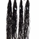 Buy 4 Bundles of Micro Dreadlock Extensions | Color 1B | Synthetic Hair | 18 Inches