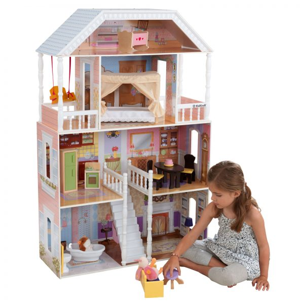 Buy 4' Dollhouse Kids Toys Playroom Dolls Play Set Girls Action Figures