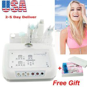 Buy 4 In 1 Microcurrent Diamond Micro Dermabrasion Ultrasound Skin Scrubber+ Gift US