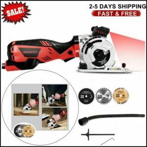 Buy 4500 rpm 705 w Electric Mini Laser Circular Saw Cutting Tool Kit With 3 Blades