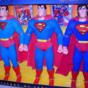 Buy #4605 NRFB FAO Schwarz Toy Store the History of Superman 3 Doll Action Figures