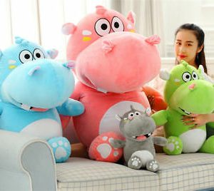 "Buy 47"" Plush Hippo Giant Soft Stuffed Cartoon Hippopotamus Doll Christmas Toys 2019"