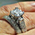 Buy 4CT Princess cut Diamond Engagement Ring Wedding Set 14k White Gold Platinum