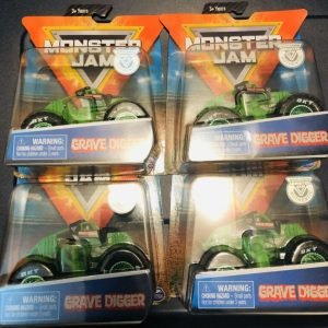 Buy 4X MONSTER JAM GRAVE DIGGER TRAINING TRUCK CHASE  SPIN MASTER 1:64 2019 TRAINER
