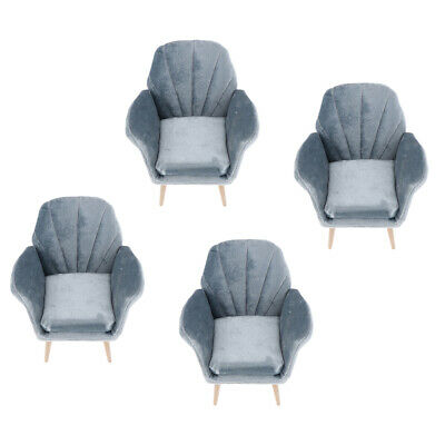Buy 4pcs 1/6 Dollhouse Single Sofa Couch for Hot Toys Action Figures Doll Decor