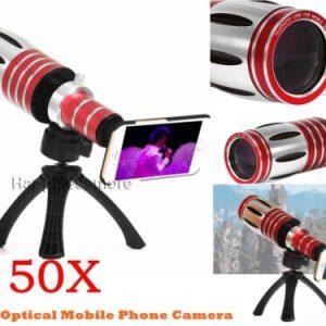 Buy 50X Super Zoom Telescope Phone Camera Lens+Tripod Case For iPhone XS X 8 Plus 7