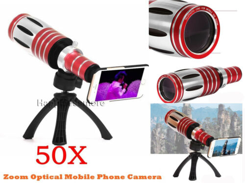 Buy 50X Super Zoom Telescope Phone Camera Lens+Tripod Case For iPhone XS X 8 Plus 7