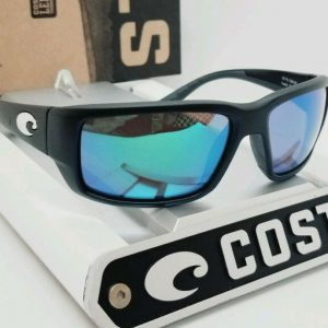 Buy 580G COSTA DEL MAR black/green mirror FANTAIL POLARIZED sunglasses! NEW IN BOX!