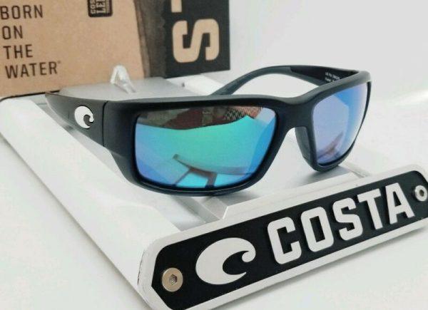 Buy 580G COSTA DEL MAR black/green mirror FANTAIL POLARIZED sunglasses! NEW IN BOX!