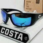 Buy 580G - COSTA DEL MAR matte black/blue mirror BLACKFIN POLARIZED sunglasses! NEW!