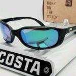 Buy 580G - COSTA DEL MAR matte black/green mirror BRINE POLARIZED sunglasses! NEW!